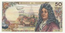 France 50 Francs Racine 04-03-1965 - Serial X.93 - AU