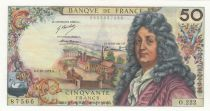 France 50 Francs Racine 04-10-1973 - Serial O.222 - XF+