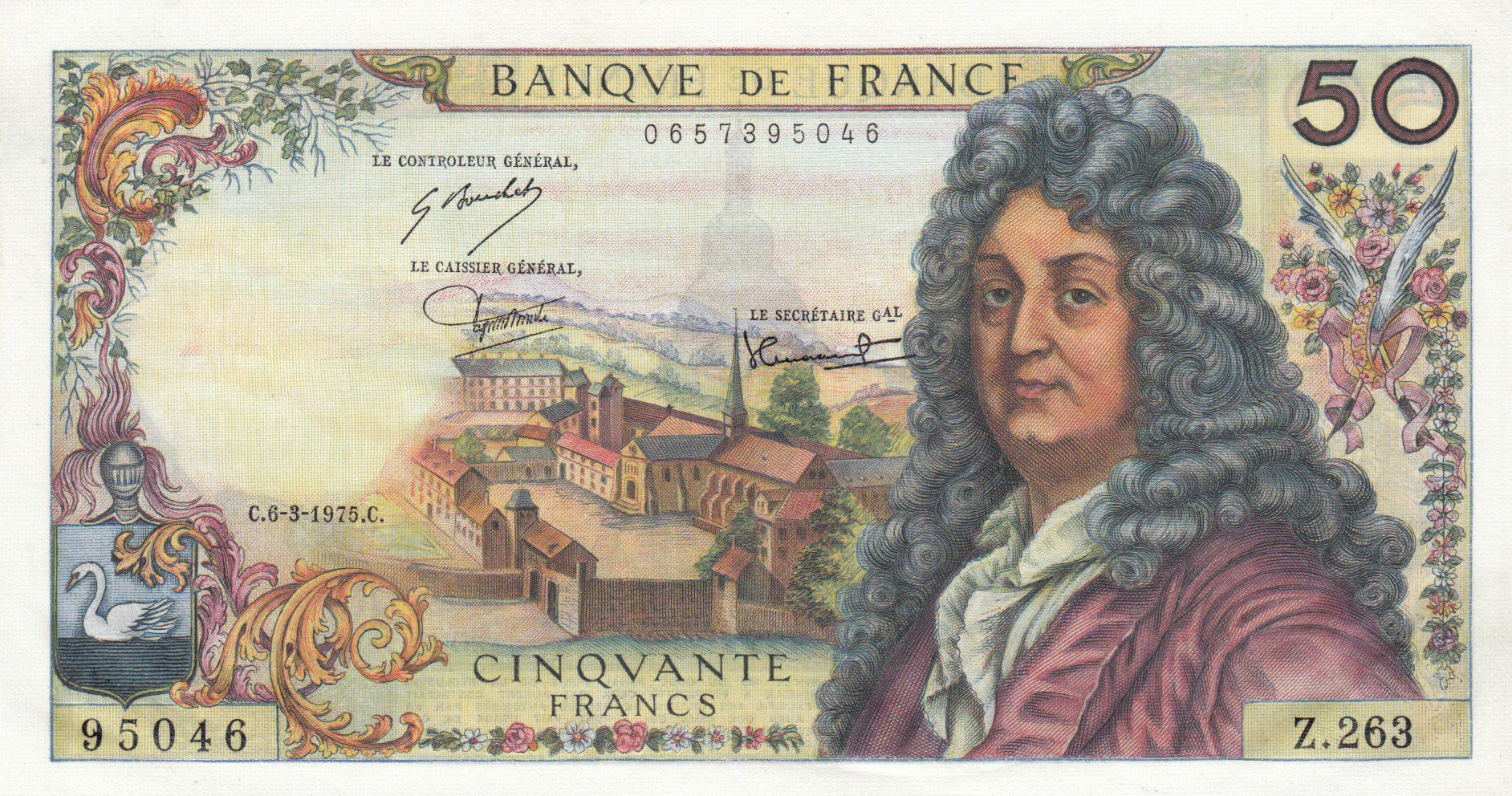 France 50 Francs Racine 06-03-1975 - Série Z.263 - P.NEUF