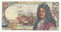 France 50 Francs Racine 10-08-1972 - Serial M.197 - XF+