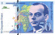 France 50 Francs Saint-Exupéry - 1992 - Série D.002 - SUP+