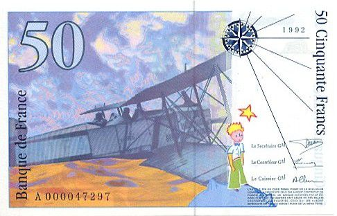 France 50 Francs Saint-Éxupéry - 1992