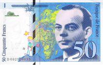 France 50 Francs Saint-Exupéry - 1992 Serial D.002590035 - AU