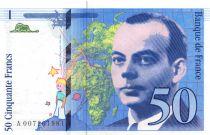 France 50 Francs Saint-Exupéry - 1993 - Serial A.007 - XF