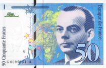 France 50 Francs Saint-Exupéry - 1993 Serial G.009515403 - aUNC