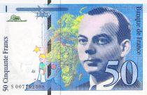 France 50 Francs Saint-Exupéry - 1993 Serial P.009610254 - aUNC