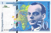 France 50 Francs Saint-Exupéry - 1993 Serial R.008733483 - aUNC
