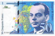 France 50 Francs Saint-Exupéry - 1993 Serial R.008733484 - UNC