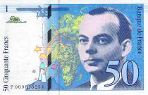 France 50 Francs Saint-Exupéry - 1993 Serial S.007702508 - AU
