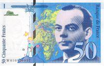 France 50 Francs Saint-Exupéry - 1993 Serial W.010920057 - aUNC