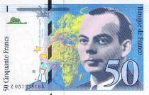France 50 Francs Saint-Exupéry - 1999 Série Z.051328135 - SPL
