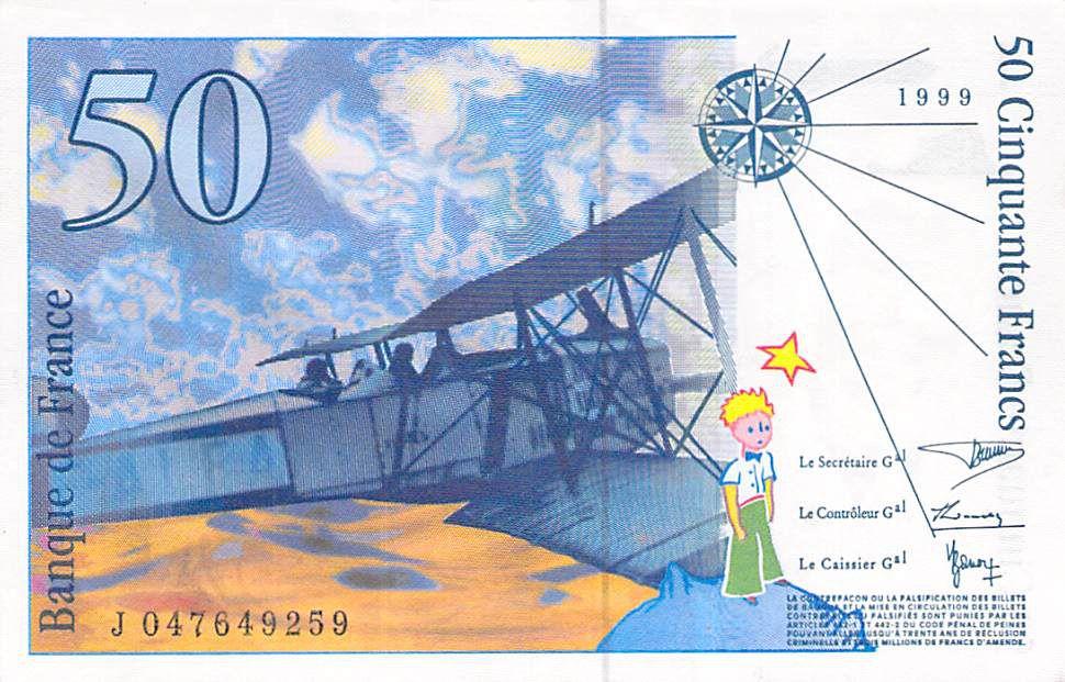 France 50 Francs Saint-Exupéry - Années variées 1992-1999 - SUP