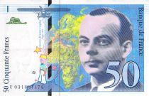 France 50 Francs Saint-Exupéry - Années variées 1992-1999 - TTB+