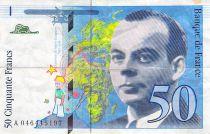 France 50 Francs Saint-Exupéry - Various Years 1992-1999 - F