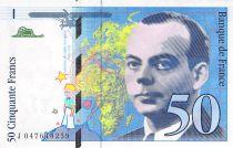 France 50 Francs Saint-Exupéry - Various Years 1992-1999 - XF