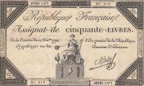 France 50 Livres - 14 Décembre 1792 - République Française - Sign. Mala 1471 819