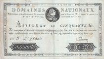 France 50 Livres - 19 Juin 1791 - Sign. CAMPOURCY 10 J.