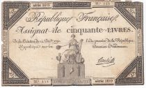 France 50 Livres France assise - 14-12-1792 - Sign. Bouché - PTB