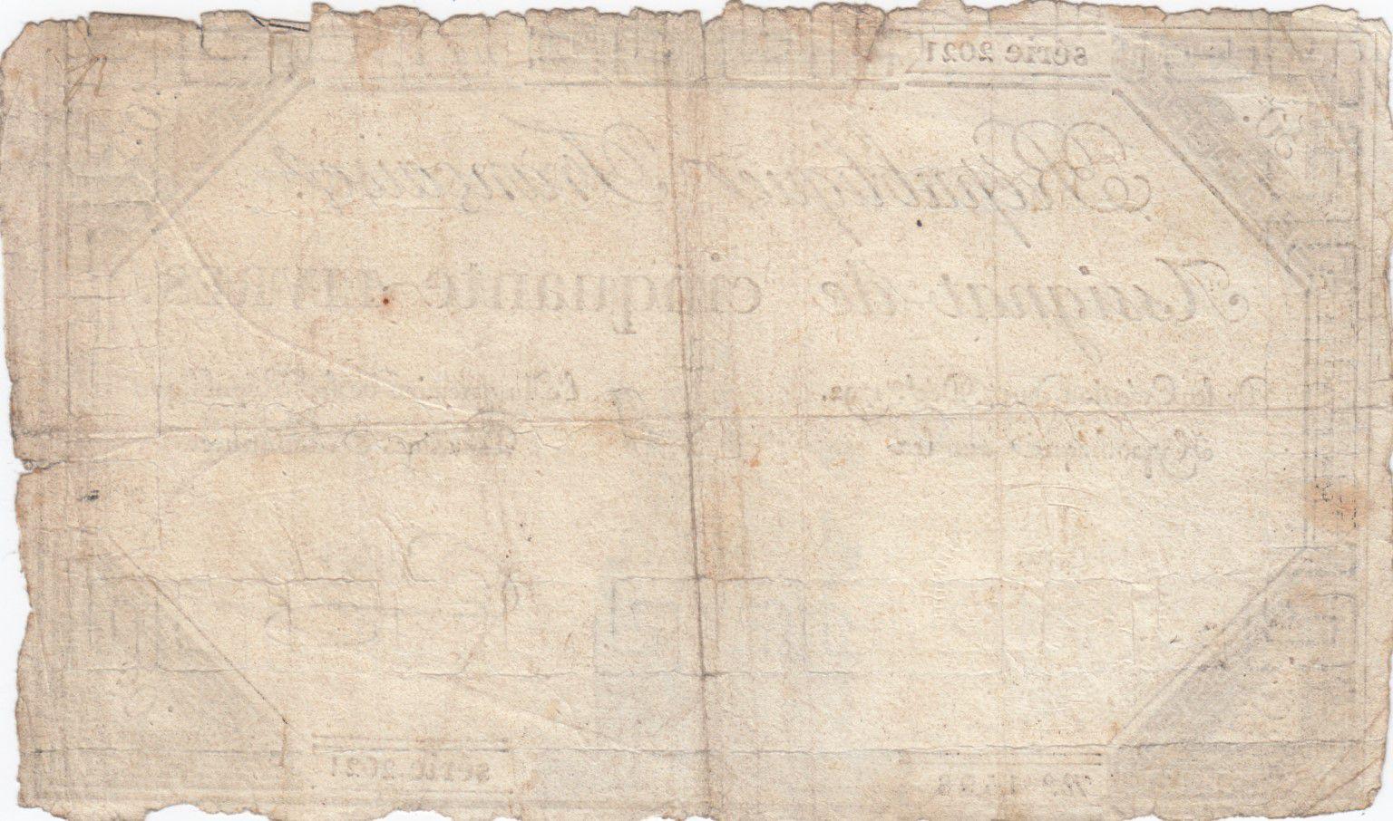France 50 Livres France assise - 14-12-1792 - Sign. Dubois