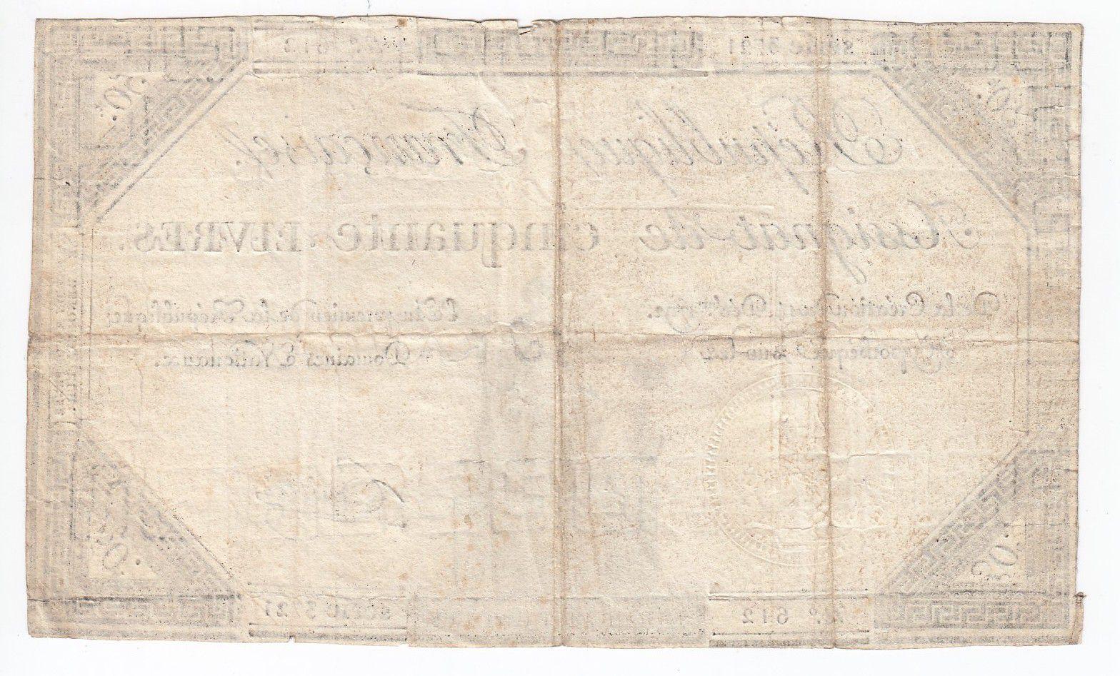 France 50 Livres France assise - 14-12-1792 - Sign. Gaillet - TTB