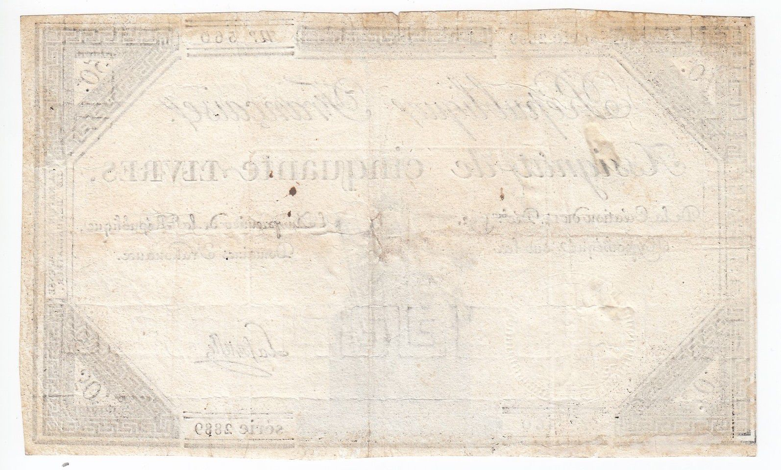 France 50 Livres France assise - 14-12-1792 - Sign. Lafortelle - TTB