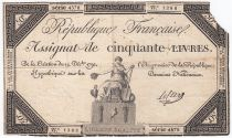 France 50 Livres France assise - 14-12-1792 - Sign. Leclerc - PTB