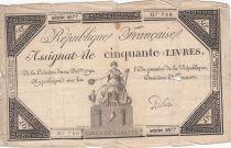 France 50 Livres France assise - 14-12-1792 - Sign. Police
