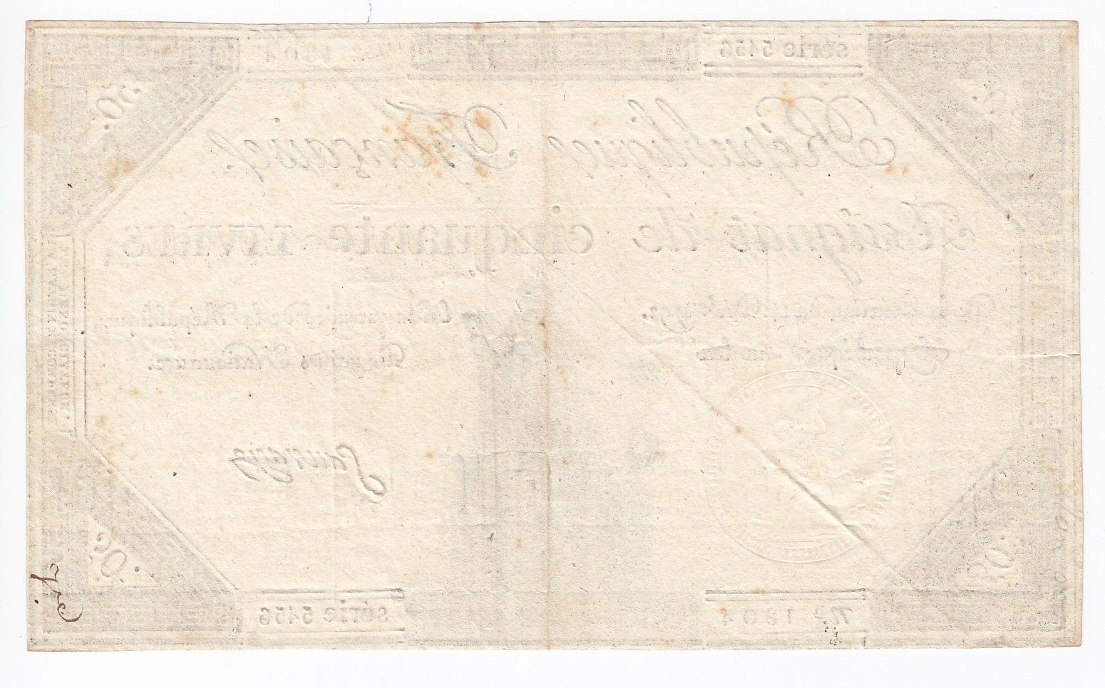 France 50 Livres France assise - 14-12-1792 - Sign. Sauvage - SUP