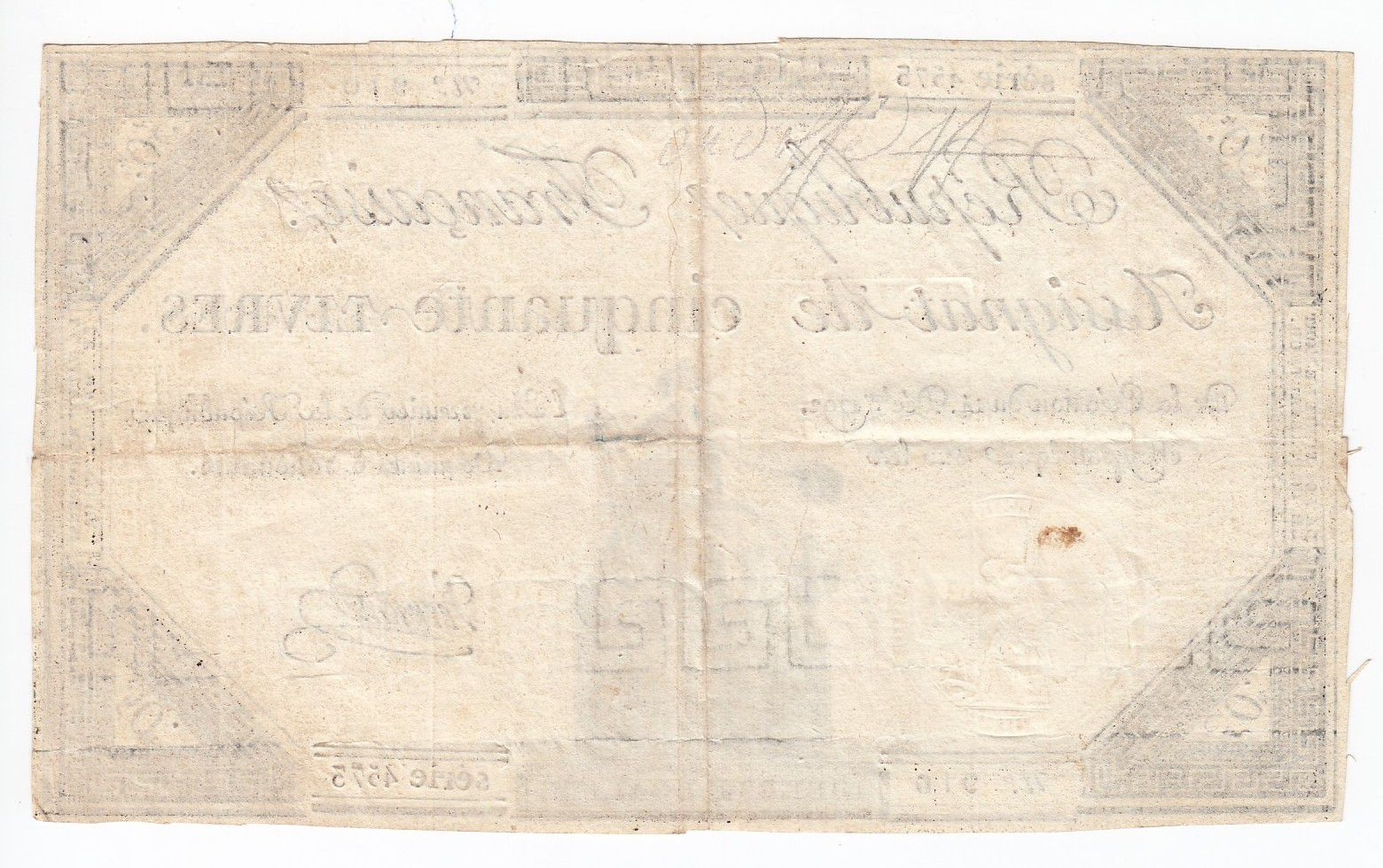 France 50 Livres France assise - 14-12-1792 - Sign. Vermond - TTB