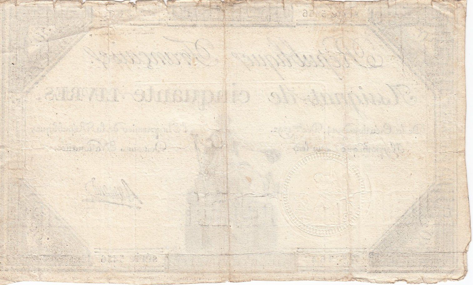 France 50 Livres France seated - 14-12-1792 - Sign. Barraud - F+