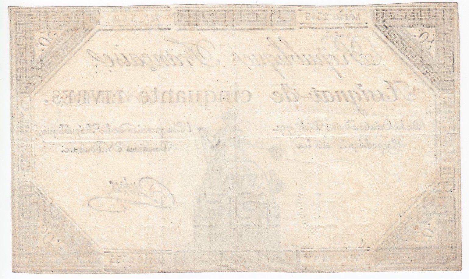 France 50 Livres France seated - 14-12-1792 - Sign. Dubois - XF