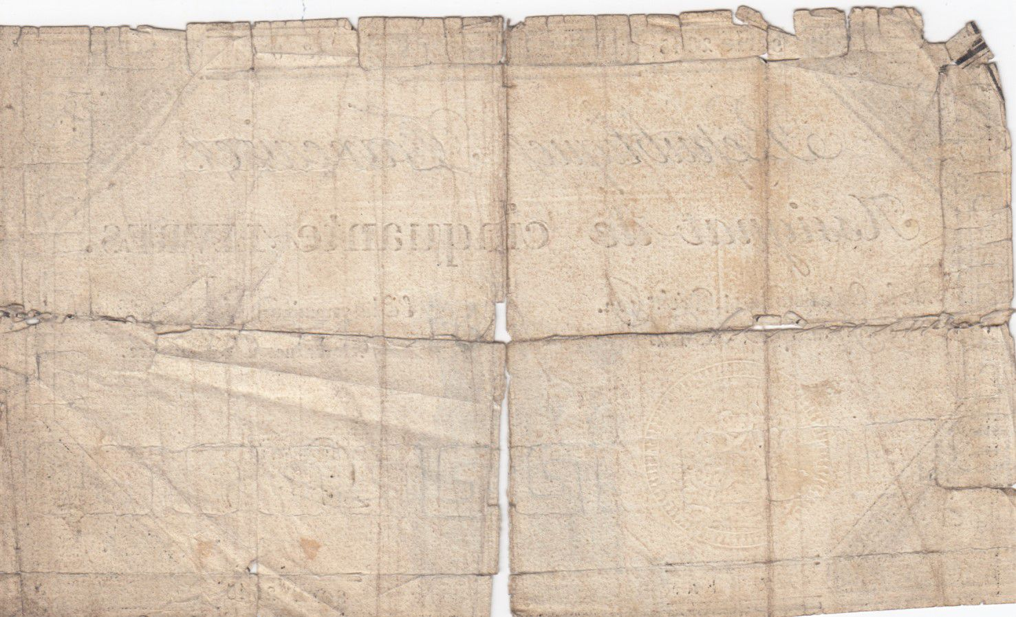 France 50 Livres France seated - 14-12-1792 - Sign. Dufour