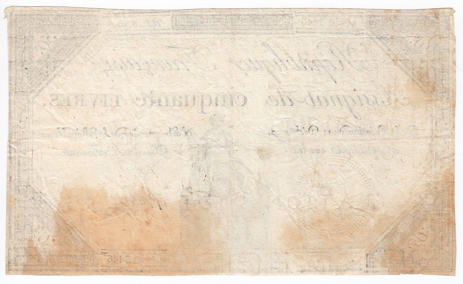 France 50 Livres France seated - 14-12-1792 - Sign. Hubert - F+