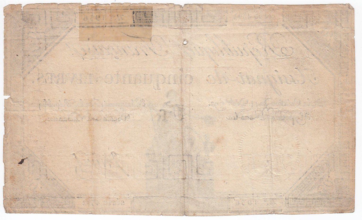 France 50 Livres France seated - 14-12-1792 - Sign. Jannel - F