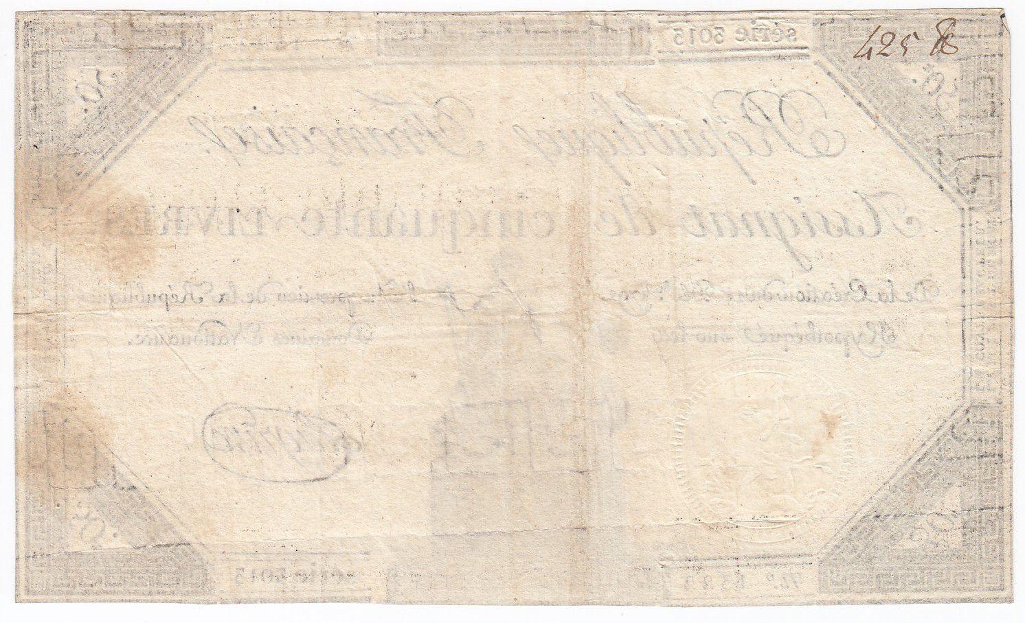 France 50 Livres France seated - 14-12-1792 - Sign. Lagrive - VF