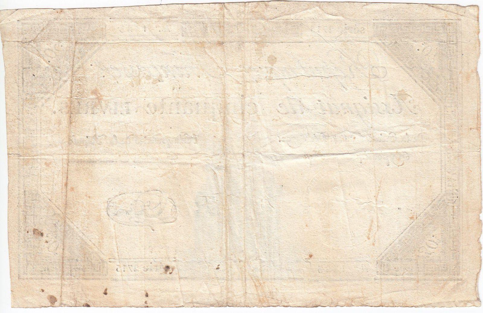France 50 Livres France seated - 14-12-1792 - Sign. Le Brun - VF