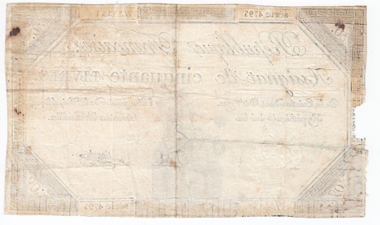 France 50 Livres France seated - 14-12-1792 - Sign. Linreler - VG to F