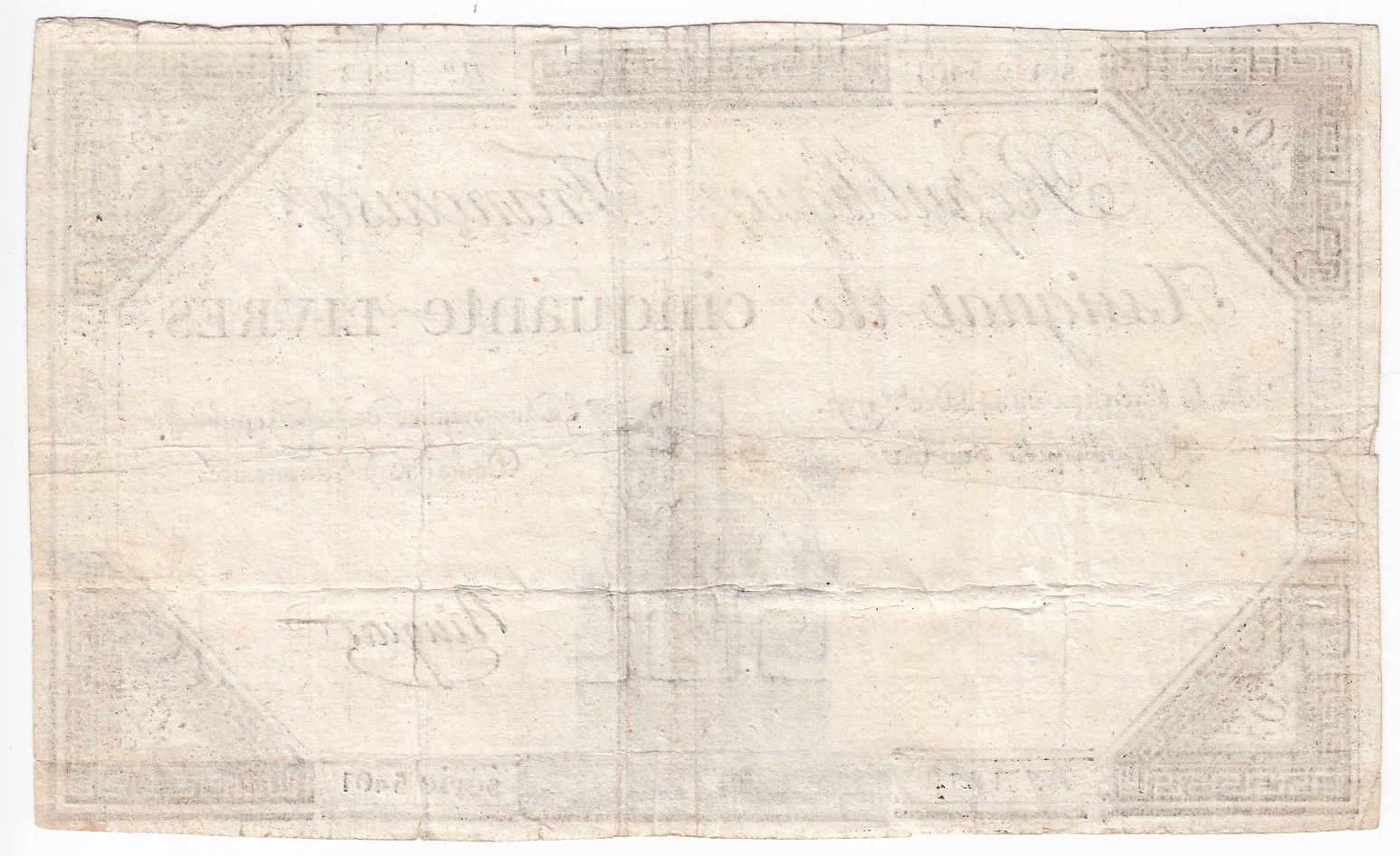 France 50 Livres France seated - 14-12-1792 - Sign. Ringuet - VF