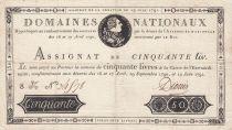 France 50 Livres Louis XVI - 19-06-1791 Série 8K - Sign. Dionis - TTB