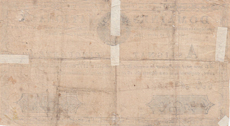 France 50 Livres Louis XVI - 29-09-1790 Série 6A - Sign. Loiselet - B+