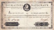 France 50 Livres Louis XVI - 30-04-1792 Série 14K - TTB