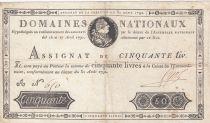 France 50 Livres Louis XVI - 31-08-1792 Série A - Sign. Pyot - TTB