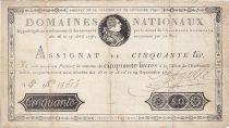France 50 Livres Louis XVI