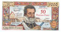 France 50 NF sur 5000 Francs Henri IV - 05-03-1959  - Série C.97 - TTB