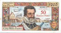 France 50 NF sur 5000 Francs sur 5000 Francs, Henri IV - 30-10-1958 Série Z.96