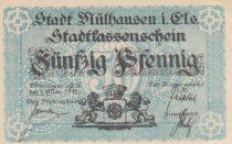 France 50 Pfennige 1918, Mulhouse Mülhausen, Stadtkassenschein