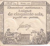 France 50 Sols Liberté et Justice (04-01-1792) - Série 110