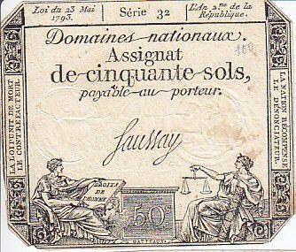France 50 Sols Liberté et Justice (23-05-1793) - Filigrane la Nation