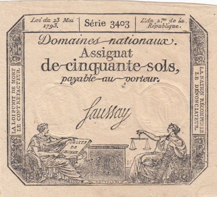 France 50 Sols Liberty and Justice (23-05-1793) - French Revolution