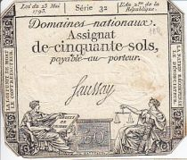 France 50 Sols Liberty and Justice (23-05-1793) - Watermark La Nation